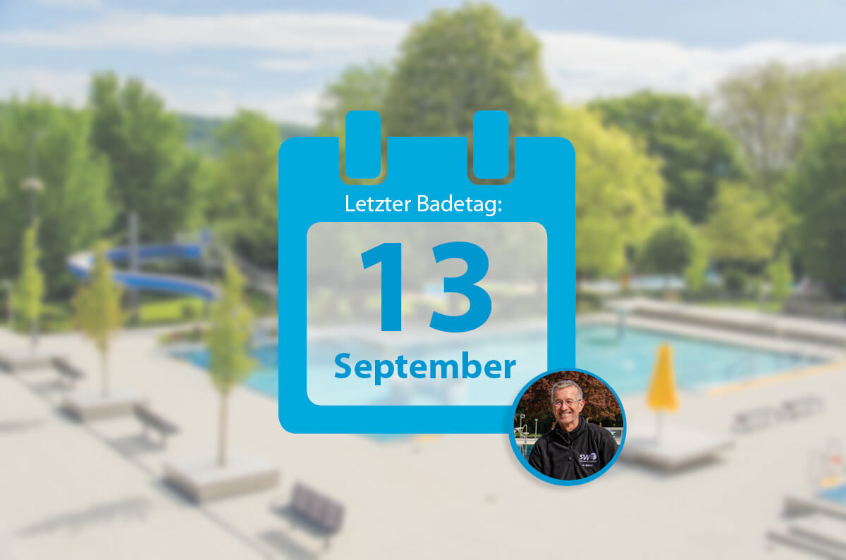 Text: Letzter Badetag 13. September 2020