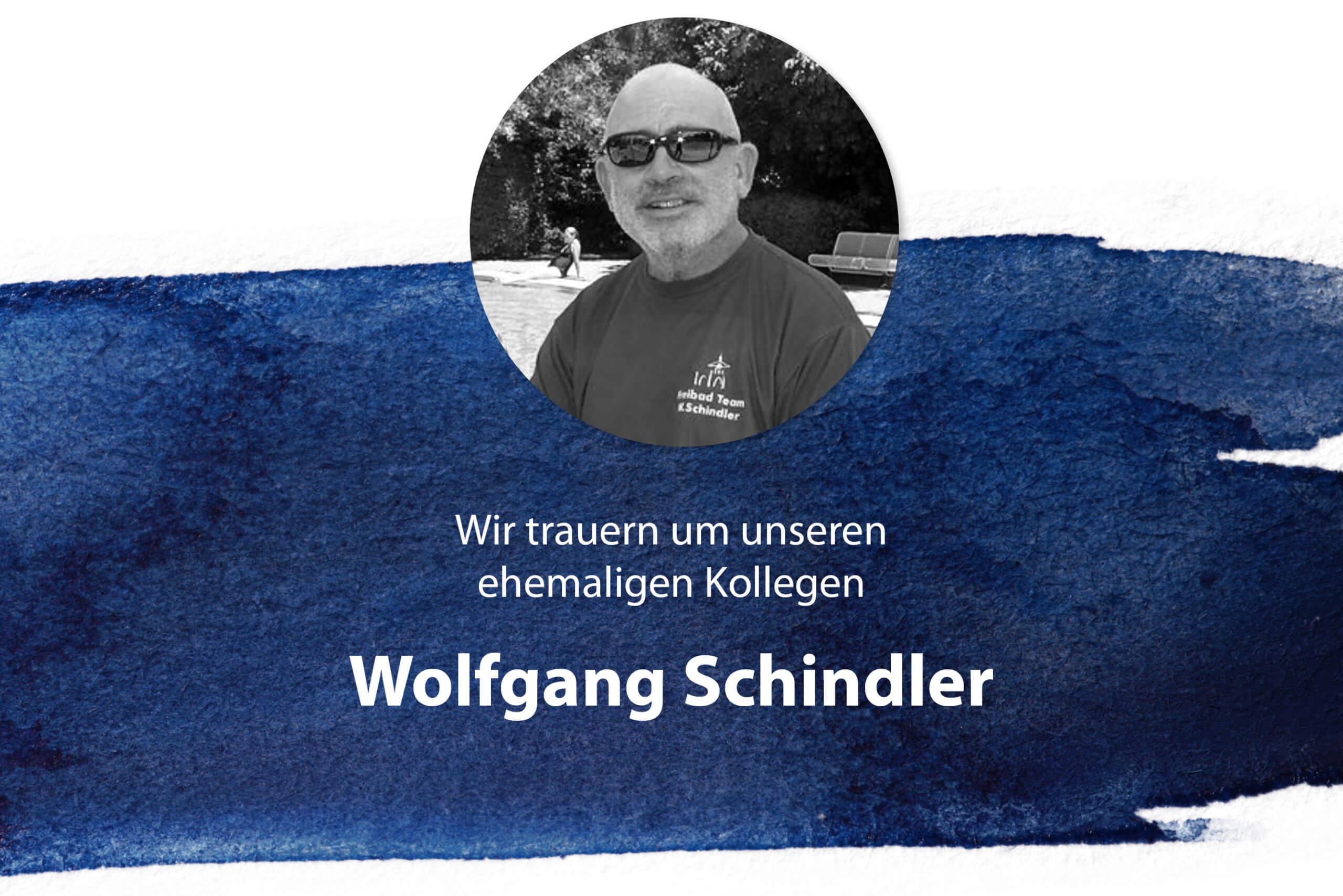 Traueranzeige für unseren verstorbenen Kollegen Wolfgang Schindler